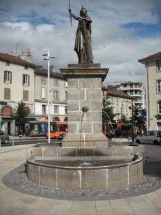 Fontaine des Droits de l'Homme.Aurillac. Cantal