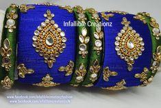 Silk Thread Earrings Designs, Silk Thread Bangles Design, Silk Bangles, Indian Bangles, Bridal Bangles, Thread Jewellery, Paper Jewelry, Diy Jewellery, Jewellery Shops