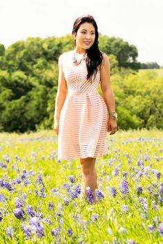 We are loving flared dresses for summer! They complement any shape and height!