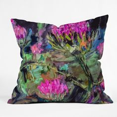 Ginette Fine Art Abstract Thistles Throw Pillow | DENY Designs Home Accessories