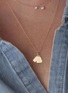Image of Single Tag Necklace-Cable Chain