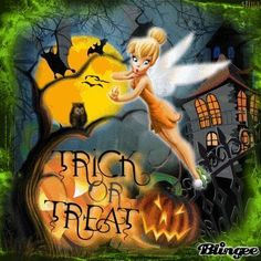 Trick or Treat! Halloween Tinkerbell Blingee by stina scott Disney Halloween, Halloween Gif, Halloween Queen, Halloween Pictures, Holidays Halloween, Halloween Ideas, Disney Christmas, Halloween Stuff, Tinkerbell And Friends