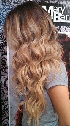 Long wavy ombre hair