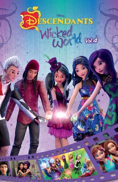 "Read ""Disney Descendants Wicked World Cinestory Comic Vol. by Disney available from Rakuten Kobo. The adventures of Mal, Evie, Carlos, and Jay and more continue in volume 4 of the bestselling Disney Descendants Wicked . Descendants Wicked World, Disney Channel Descendants, Disney Nerd, Disney Movies, Capas Dvd, Adventures In Babysitting, Best Pictures Ever, Decendants, 2015 Movies"