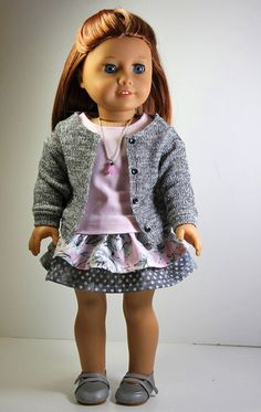 American Girl Doll ClothesSweater Shirt Skirt by sewurbandesigns, $6.00