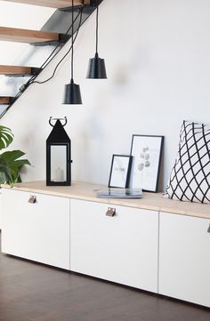 Ikea DIY Sitzbank Besta Hack #treppe #eingang #flur