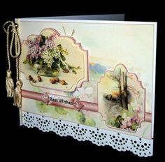 Vase of lilacs panel card on Craftsuprint designed by Angela Wake - made by Dianne Jackson -
