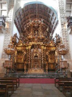 1000 Lugares en Galicia: Iglesia de San Martín Pinario. Retablo Mayor y Cor...