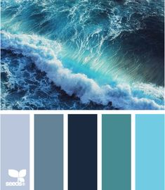 Color: Color Crash by Design Seeds - periwinkle, slate blue, midnight blue, teal, turquoise.