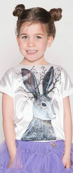 ANGEL'S FACE Girls White Satin 'Hare' Top & Purple Tutu Skirt. Designed for animal lovers, with a large print of a hare on the front. Perfect vintage style lok for a little princess at any special occasion or night out on the town. Pretty Style for for stylish kid, tween and teen girls. #kidsfashion #fashionkids #girlsdresses #childrensclothing #girlsclothes #girlsclothing #girlsfashion #cute #girl #kids #fashion #flowergirl