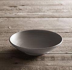 Wheeler Dinnerware Grey Dinnerware   Restoration Hardware