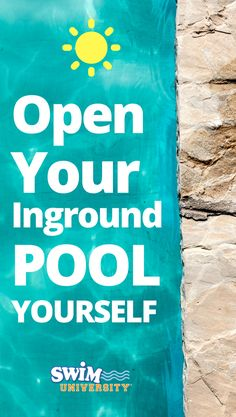 Thinking it'd be easier to just leave your pool closed when winter ends? Learn how to open your inground pool and get right back to the fun! Pool Maintenance Cost, Swimming Pool Maintenance, Pool Chlorine, Pool Care, Pool Supplies, Pool Landscaping, Swimming Pools, Essentials, Patio