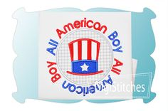 All American Boy Circle Patch Applique