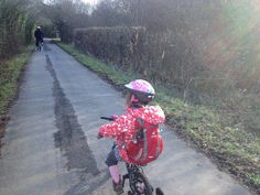 Where's Lottie? Here is Butterfly Protector Lottie and Stargazer Lottie hitching a ride with Charlotte aged 5, on her bicycle. They are cycling along the Tarka trail in North Devon where Charlotte lives.