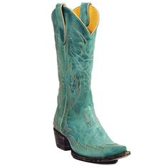 Yippee Ki Yay Turquoise Diabolina Boot by Old Gringo at The Maverick Western Wear      Price: $295.00
