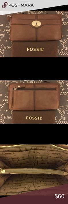 *SALE* Fossil brown soft leather wallet NO OFFERS NO OFFERS   Classic, luxurious, Fossil brown soft leather wallet. Exterior features 1 zip compartment and 1 organizer flap; interior features ID insert, zip compartment, and 12 credit card slots. Includes original dust bag. Wallet and leather is in good condition; has aged like a fine wine 🍷 . Fossil Bags Wallets