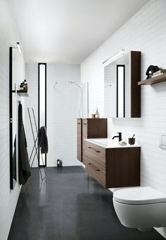 Servantskap m/Fresco servant Modular Furniture, Wet Rooms, Bathroom Interior Design, Bathroom Furniture, Fresco, Small Bathroom, Lava, Toilet, Bathtub