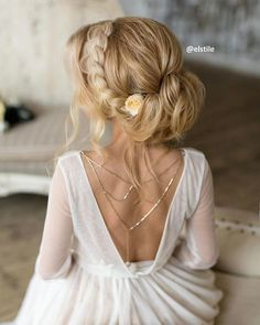 Elegant updo wedding hairstyle to inspire your big day look. These sophisticated wedding hairstyle Ideas perfect for bridal and bridesmaids.