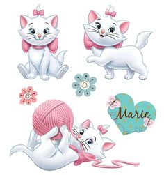 marie, disney, gato, os aristocats - DISNEY & more - Images Disney, Art Disney, Disney Kunst, Disney Magic, Disney Pixar, Disney Films, Marie Aristocats, Disney And More, Disney Love