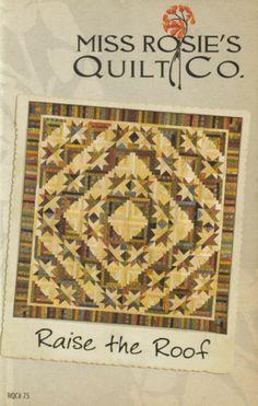 Miss-Rosies-Quilt-Kit-Raise-the-Roof-Reproduction-CIvil-War-74-x-74-Fabrics