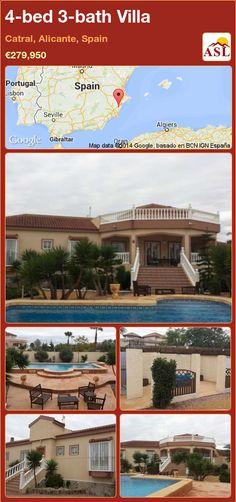 4-bed 3-bath Villa in Catral, Alicante, Spain ►€279,950 #PropertyForSaleInSpain