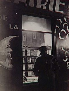 "Brassaï, ""La Librairie de la Lune [The Library of the Moon],"" Paris, circa 1931-1943, Silver print"