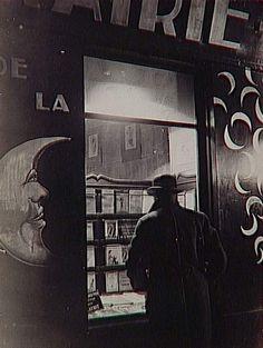 """Brassaï, """"La Librairie de la Lune [The Library of the Moon],"""" Paris, circa 1931-1943, Silver print"""