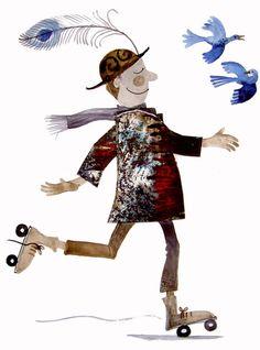 siguiendo a los pájaros, ilustración de Alida Bothma