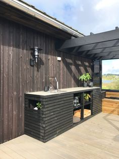 Outdoor Kitchen Patio, Outdoor Sinks, Outdoor Kitchen Design, Outdoor Living, Backyard Pavilion, Backyard Patio Designs, Pergola, Outdoor Barbeque, Hot Tub Backyard