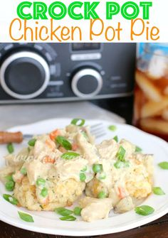 Crock Pot Chicken Pot Pie Recipe from The Country Cook
