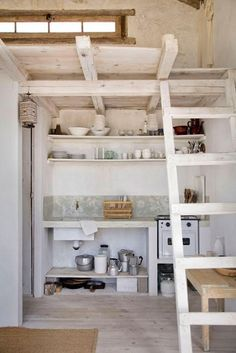 beach cabin kitchen