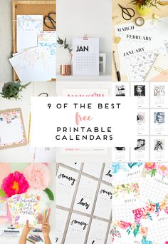 9 OF THE BEST FREE PRINTABLE CALENDARS