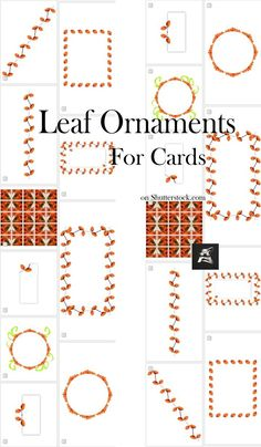Special #set with #autumn #leaf ornaments useful for invitation or greeting #cards, #banner #stationery #stockphotography #stock #image Banner Stationery, Easy Crafts, Crafts For Kids, Text Frame, Pretty Drawings, Greeting Cards, Gift Cards, Image Collection, Fun Projects