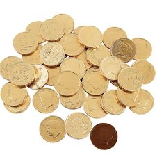 Chocolate gold coins @ OrientalTrading.com Easiest place to find them.