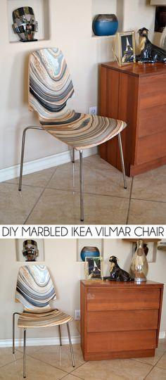 DIY Marbled IKEA Vilmar Chair - Dream a Little Bigger