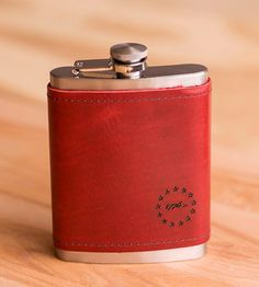 Custom Leather Wrapped Flask | Stash your booze of choice in this handsome leather wrapped fl... | Flasks