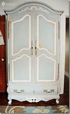 annie sloan chalk paint armoire paris gray and louis blue