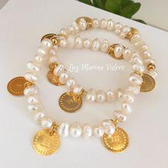 Pulseras de perlas con los Diez Mandamientos by Luz Marina Valero