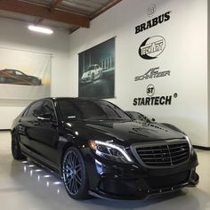 "For Sale - 2015 BRABUS B50 with complete aerodynamic package, Monoblock F 21"" Forged Wheels, and 540 hp engine tuning! #brabus #s550 #540hp #mercedes #benz"