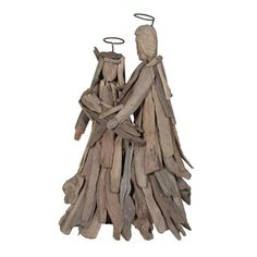 Xmas Driftwood Holy Family Sculpture