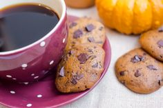 Pumpkin Chocolate Chip Cookies are soft and cakey and come together with one bowl and a spatula. No creaming required.