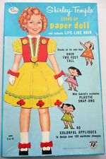 Shirley Temple Samuel Gabriel Stand-Up Paper Doll With Authentic Life-Like Hair