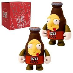 Kidrobot Simpons Dizzy Duff Beer Vinyl Figure - Radar Toys