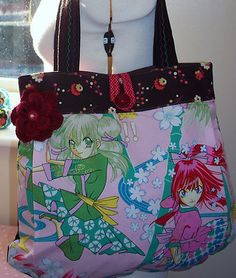 Anime fabric bag