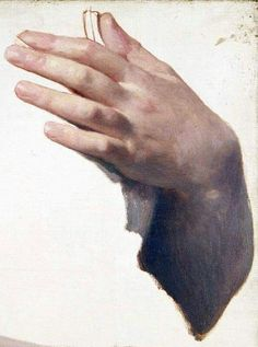 Study of a hand, by Bougereau