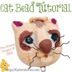 Polymer Clay Cat Bead Tutorial by KatersAcres