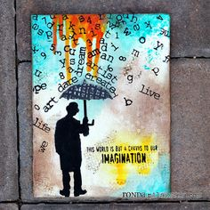 Sizzix: Imagination Canvas by design team member @Ronda Palazzari.  Details on our blog: http://sizzixblog.blogspot.com/2012/05/imagination-canvas.html#