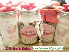 Customize your special gift for Mother's day with GLAMULET PHOTO charms. compatible with Pandora bracelets.DIY bath salts are so easy and inexpensive to make, what a great gift idea for Christmas, Mother's Day, Valentine's Day, Teachers and more. Diy Bath Salt Jars, Homemade Beauty, Homemade Gifts, Homemade Food, Diy Food, Christmas Jars, Christmas Gifts, Handmade Christmas, Holiday Crafts