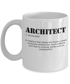 Gift For Architect, Architect Gift, Funny Coffee Mug, Funny Coffee Cup, Funny Coffee Cups, Funny Mugs, Coffee Mugs, Architecture Memes, Gift For Architect, Plan Sketch, Going Away Gifts, Company Gifts, Coffee Humor