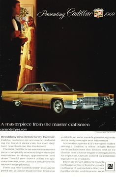 1969 Cadillac Hardtop Sedan deVille - A masterpiece from the master craftsmen - Original Ad